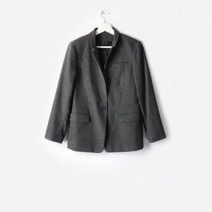 j.crew charcoal regent blazer in wool flannel